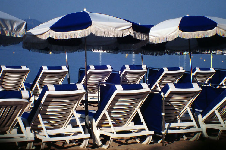 Arrangement Cannes Chair Côte D'Azur Empty France In A Row Large Group Of Objects No People Outdoors Sun Lounger