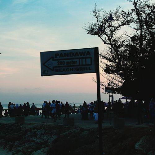 Pandawabeach Indonesiaku Sunset Silhouettes Baliku