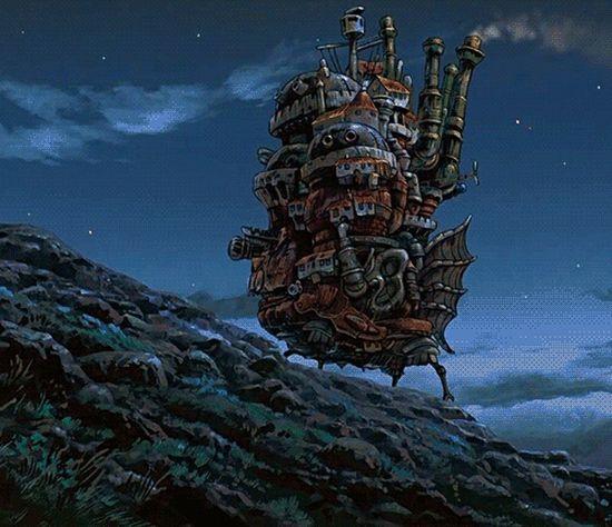 Howlsmovingcastle Howl's Moving Castle Studio Ghibli Howl Night Calm