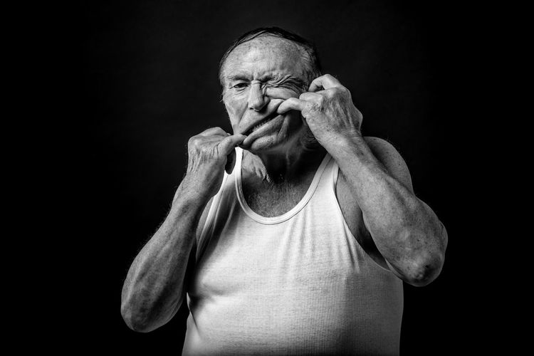 Adult Adults Only Black And White Black Background Black Background Blackandwhite Close-up Human Hand Looking At Camera Men One Man Only One Person One Senior Man Only Only Men People Portrait Portrait Photography Senior Adult Senior Men Studio Photography Studio Shot The Portraitist - 2017 EyeEm Awards This Is Aging