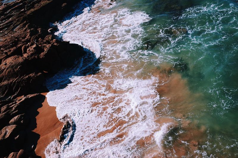 Sea Nature Water Rock - Object Beauty In Nature Scenics Outdoors Day No People Wave Beach Travel Colors View