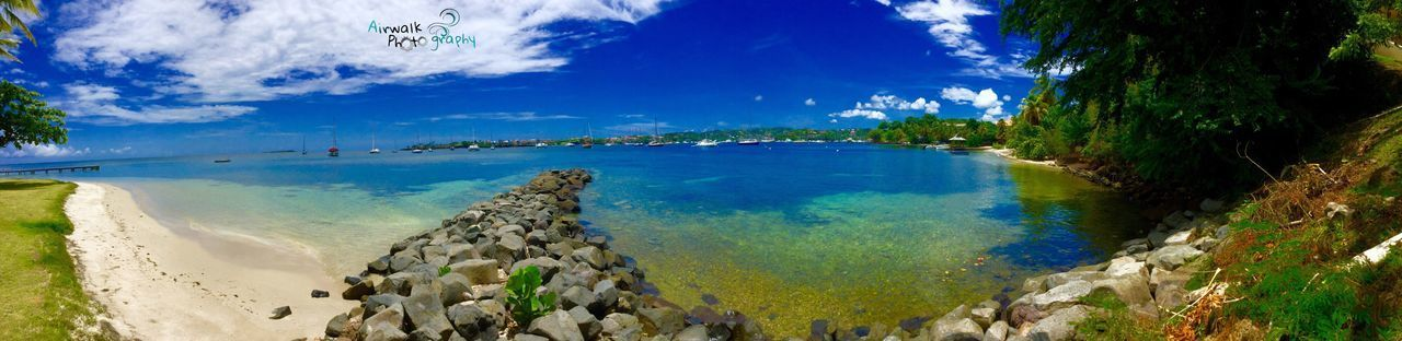 Panoramic Beach Scenics Tranquility Reflection Beauty In Nature Grenada Paradise 473 Sea Sky