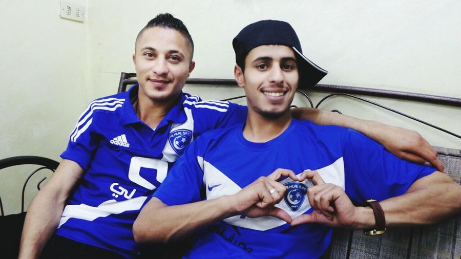 Me And My Friend Alhilal S.fc Happy People Cool 😚 Happy Nice