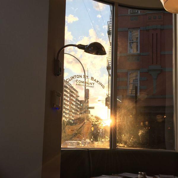 Pancakes for dinner 😄 Clintonstreet Manhattan NYC Sunset June 2016