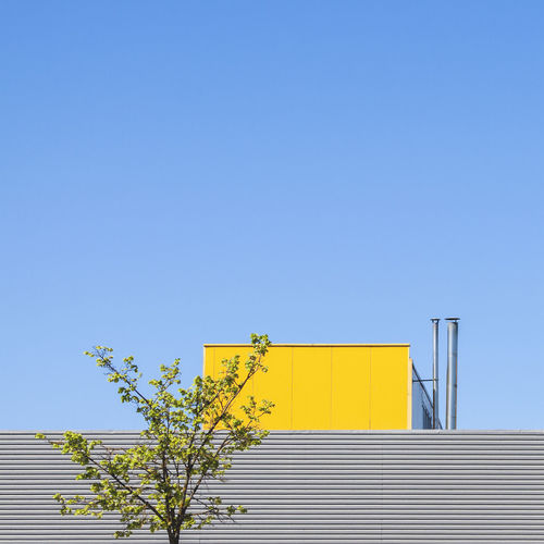 Minimalism concept with industrial building detail, minimalist architecture