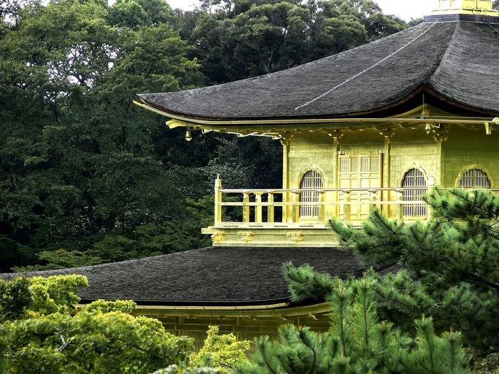 High Section Of Kinkaku-Ji Temple Surrounded By Trees