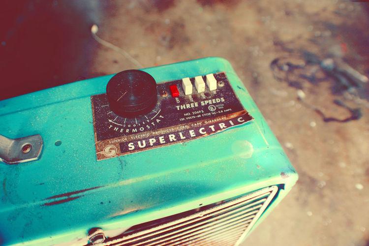 60s Design Cyan Electric Fan Fan Industrial Fan Rusty Super Electric Superelectric Vintage Electric Fan Vintage Fan Workshop