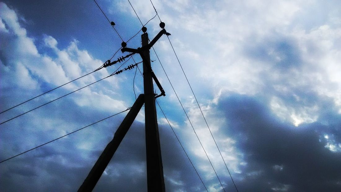 Sky Cable Cloud - Sky Low Angle View Electricity  Power Supply Connection Power Line  No People Outdoors Electricity Pylon Complexity Day Technology Nature Hdr Photography
