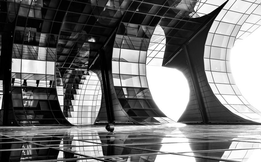 It is not what it seems London Whatisthis Blackandwhite Picoftheday Pictureoftheday EyeEmNewHere City Architecture Built Structure Geometric Shape Triangle Hexagon Shape Curve Modern Art