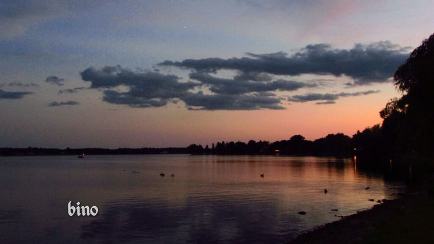 Shooting At Dusk Around The Lake Sunset Silhouettes Getting Dark No People Serene Outdoors Lake Cadillac Pure Michigan