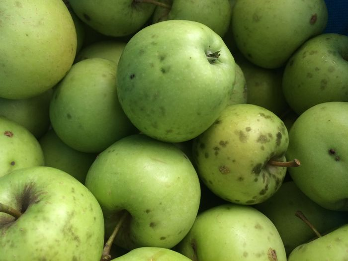 Close-up of granny smith apples for sale