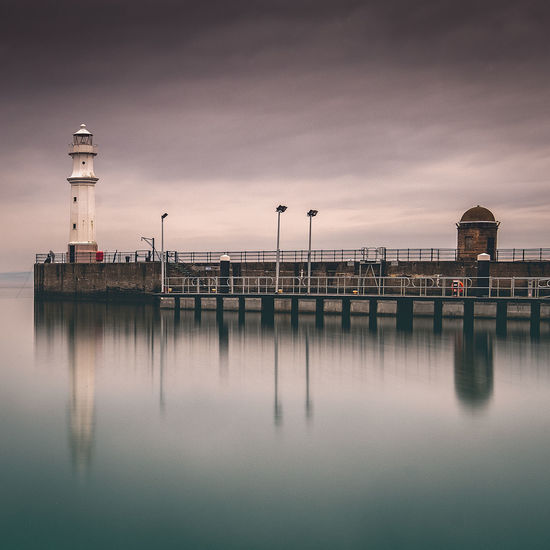 Edinburgh Harbour View Lighthouse Architecture Beauty In Nature Building Exterior Built Structure Cloud - Sky Day Lake Nature Newhaven Newhaven Lighthouse No People Pier Reflection Reflections In The Water Scenics - Nature Sky Tower Transportation Two Tone Water Waterfront Wooden Post