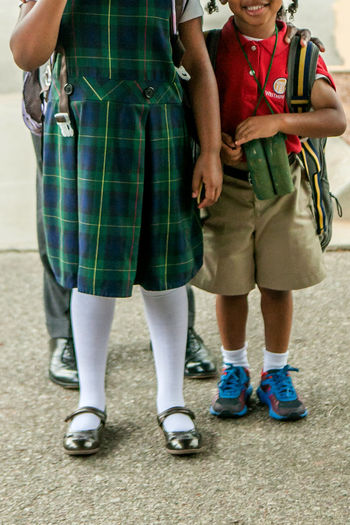 School Uniforms Around the World #huffpost Childhood Friendship Innocence Lifestyles Low Section Real People School Uniforms Around The World #huffpost