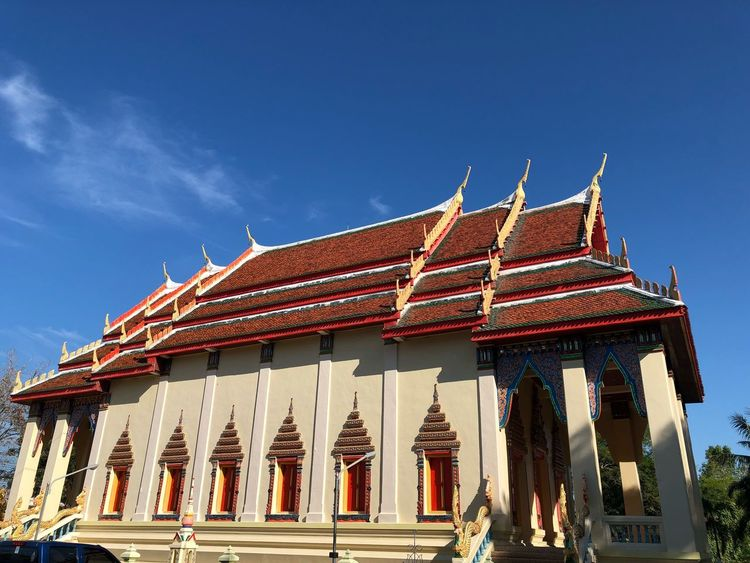 Beautiful vintage church in uthaithani countryside thailand with blue sky background Retro Vintage Charm Beautiful Budist Budism Budist Tempel Religion Thailand Temple Church Bluesky EyeEm Selects Architecture Religion Built Structure Spirituality Low Angle View Building Exterior Place Of Worship Outdoors Day Sky Travel Destinations Clear Sky No People