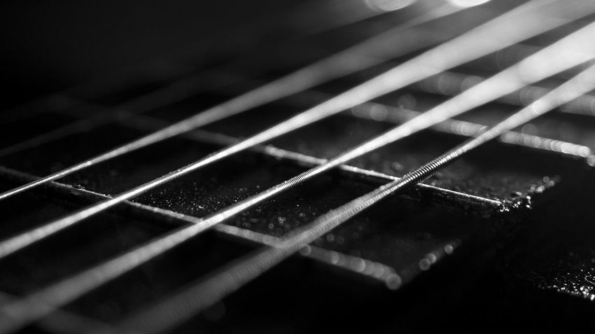 Quitar Black & White Chord Wire Photography Photo Focus Wallpaper