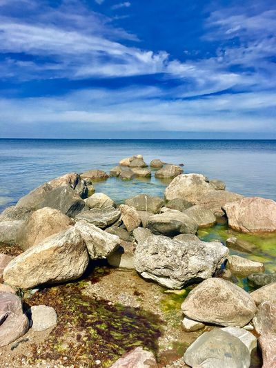 Sea Water Sky Horizon Over Water Tranquil Scene Tranquility Nature Cloud - Sky Rock - Object Scenics Beauty In Nature Blue Outdoors Day No People Beach Sweden Gotland, Sweden Gotland Svezia
