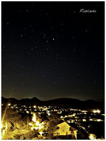 Nght Stars Robledo Paisaje Nocturno Pueblo Mars Marte Escorpio Estrellas Luces