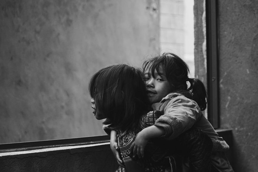 The Street Photographer - 2017 EyeEm Awards The Photojournalist - 2017 EyeEm Awards Togetherness Love Childhood Young Adult Street Photography Blackandwhite