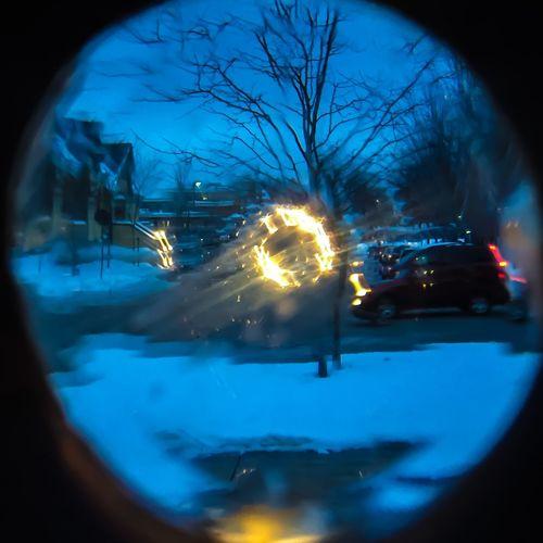 Lens Cutglass Northern Michigan Puremichigan Petoskey Twilight Winter