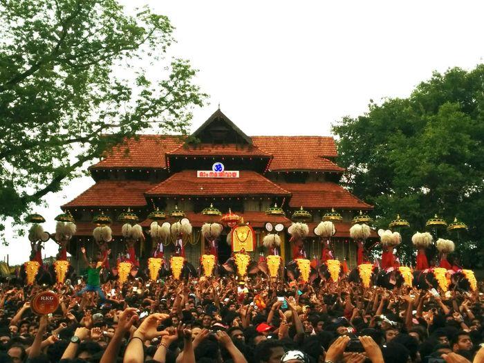 Thrissur Pooram Festival Elephant Parade Kudamattam Vadakkumnathan Temple