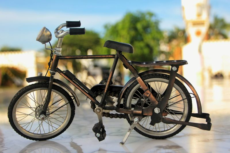 Aceh Transportation Mode Of Transportation Day Land Vehicle No People Focus On Foreground Bicycle Nature Wheel Outdoors City Cart Plant Architecture Metal Sunlight Travel Stationary Tree