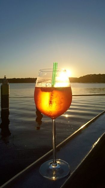 At Sunset Sundowner Sundown Water Ship Tranquil Scene Landscape Outdoors Gorgeous_sunsets Beauty In Nature Thankful EyeEmNewHere Cocktail Cocktails🍹