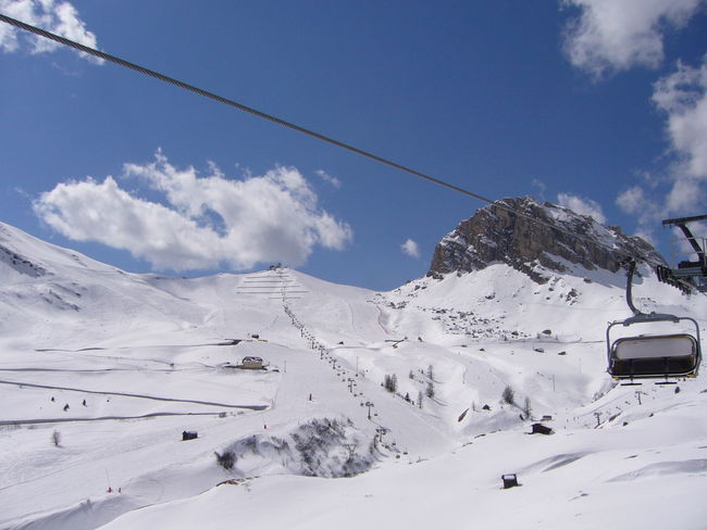 Snow Landscape Cold Temperature Nature Winter Outdoors Day Ski Lift Sky Beauty In Nature Mountain Skiing Scenics Snowcapped Mountain Beauty In Nature ❤️❤️ Somewhere Over The Rainbow Scenics Nature Scenics Landscape Winter Dolomiti Skyline Blue And White Ski Slope Be. Ready. 3XSPUnity Dolomiti Italy