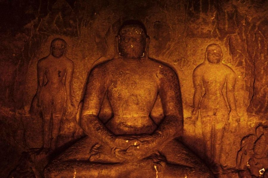 Human Representation Religion Art And Craft No People Ancient Idol Archaeology Sculpture Close-up Indoors  Day Camera Lights India Photo Effects Beautifull Beautyful  Yellow Gold Colored Emotions Nautural Beauty Indian Temple Architecture Buddhism