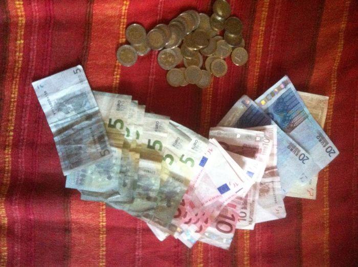 Argent Argent Monnaie Euros Riches