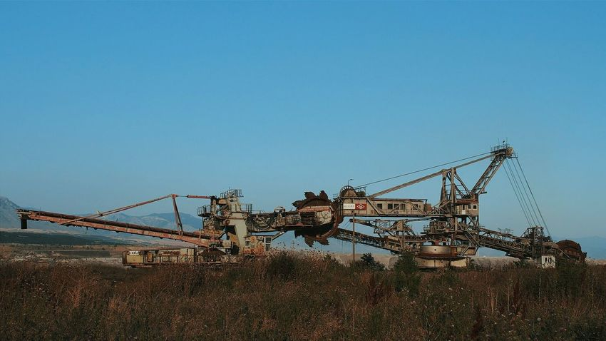 More Coal needed 2 Industriekultur Industrialdecay Industrial Area Conveyor Belt Machine Industrial Chic in Kozani Greece