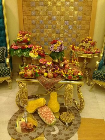 Special Yalda night table at the hotel. Nuts YALDA NIGHT Flower Food Fuits Hotel Jar Multi Colored Table Watermelon Yellow First Eyeem Photo