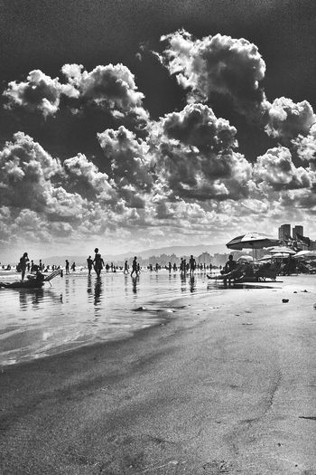 Black And White Beautiful Nature Beach Photography