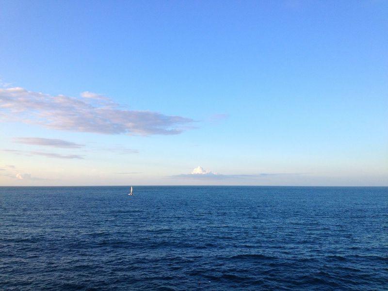 Ocean Blue Sky Sea Eye4photography  EyeEm Best Shots Traveling Wanderlust On The Road Boats Sky