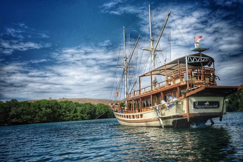 phinisi ship Komodo National Park Ship Phinisiship Phinisi Phinisi Boat Outdoors Transportation