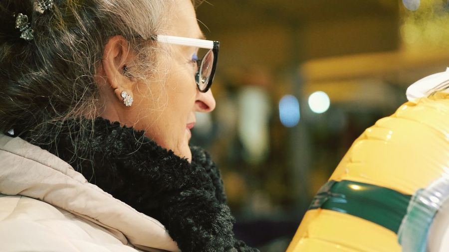 Toy Wintertime Still Life Cold Temperture Joyful Moments Smile EyeEm Selects One Person Women Real People Headshot Focus On Foreground Portrait Lifestyles Adult Fashion Beauty Beautiful Woman Looking Females Leisure Activity Clothing Glasses Warm Clothing