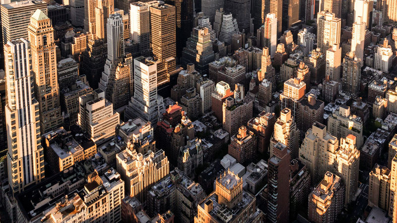Architecture_collection Cityscape Manhattan New York City Sunlight Urban Geometry Aerial View Architecture Building Exterior City Cityscape Full Frame High Angle View Light And Shadow No People Skyscraper Travel Destinations Urban Skyline Fresh On Market 2017