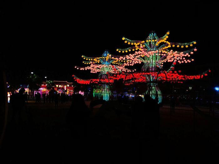 Celebration Night Illuminated Lighting Equipment Glowing Christmas Celebration Event