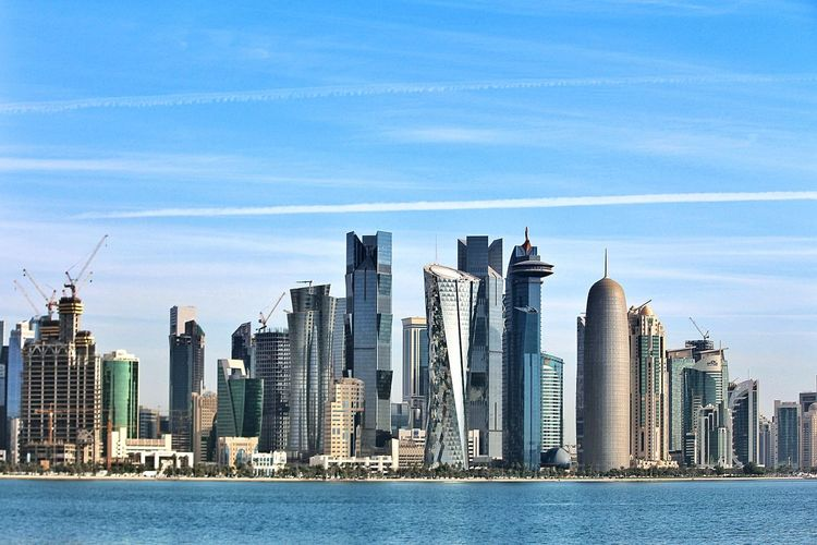 Doha's incredible skyline Check This Out EyeEm Best Shots Hello World The Architect - 2015 EyeEm Awards Doha,Qatar Architecture My Country In A Photo Streetphotography Blue Wave