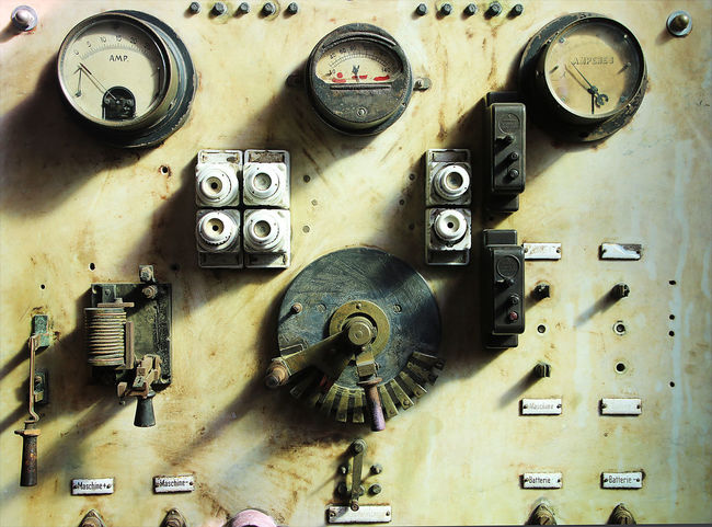 Machinery Equipment Technology Industry Electricity  Old Power Supply Industrial Equipment Lever Factory Retro Styled