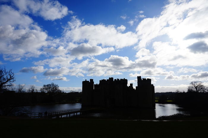 Majestic time Blue Sky Blue Sky And Clouds Blue Sky White Clouds Bodiam Castle Bridge Building Exterior Castle Castle Cloud Cloud - Sky Cloudy History Moat Outdoors Silhouette Sky