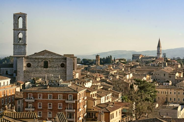 Perugia Perugia Italy EyeEmSelect Cityscape Architecture Business Finance And Industry City No People Building Exterior Outdoors Urban Skyline Sky Day Travel Destinations Built Structure Religion Clear Sky History Mountain Colour Your Horizn