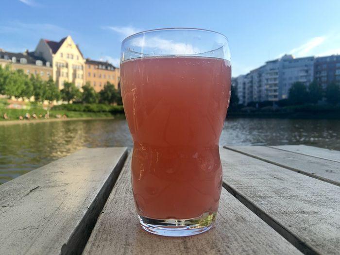 Rhubarb juice rharbarbersaftschorle Summer Time Berlin Rhubarb