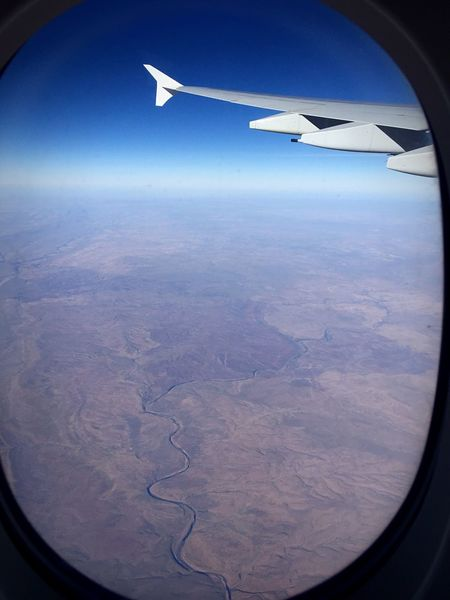 Airplane Air Vehicle Flying Mode Of Transport Transportation Aircraft Wing Travel Aerial View Part Of Cropped Blue Journey Landscape On The Move Scenics Aeroplane Window Mid-air Airbus A380 380 Aboveaustralia