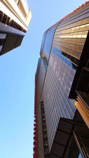 """I feel small again"" Looking Up Architecture Walking Around City Sky Feeling Small Built Structure Business Finance And Industry Osanpo Camera No People City Life Skyscraper City Street Tower Buildings Towers Barangaroo Business Centre Barangaroo"