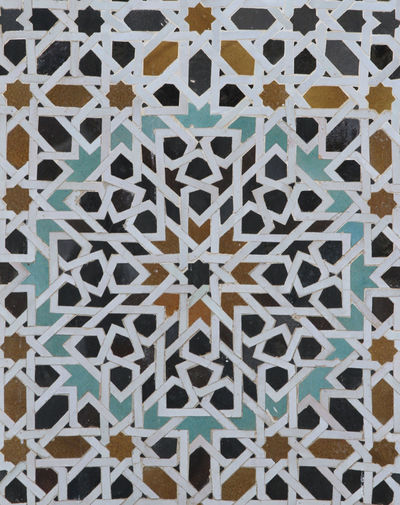 Architectural Feature Design Detail Geometric Shape No People Ornate Pattern Repetition Side By Side Tiles Tiles Of Morocco