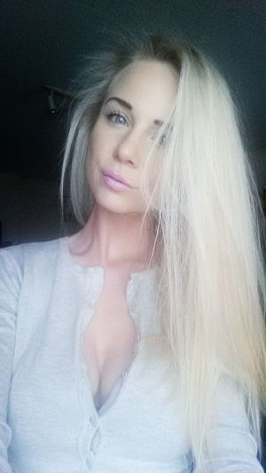 Polishgirl Slavic Selfie Blond Girl Woman