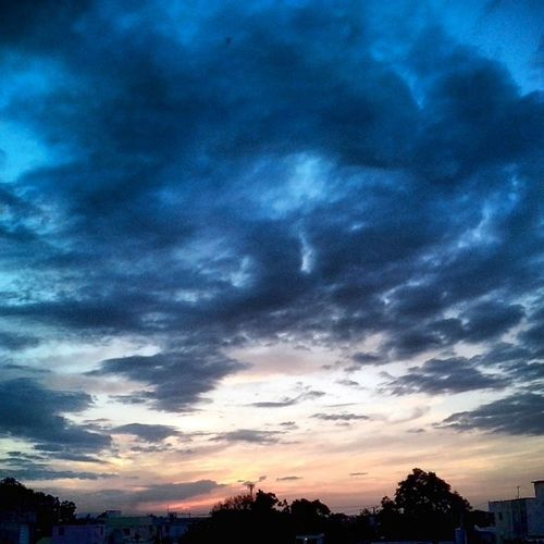 Clouds Dance. Sky Clouds Sunset