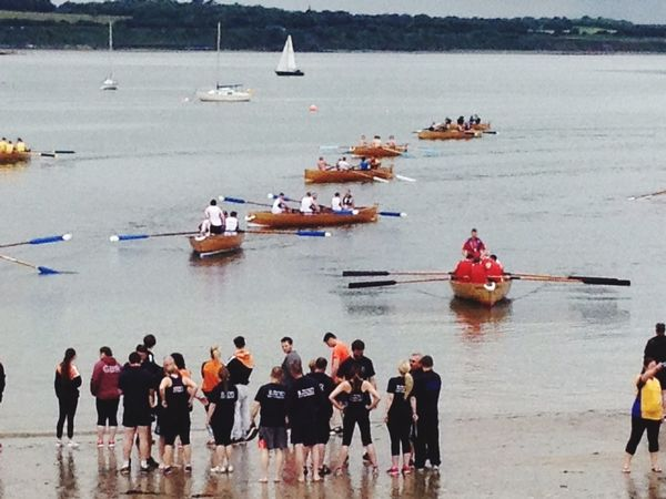 Race Day Skerries Ireland Rowing Regatta Boat Oars Sea Skiff