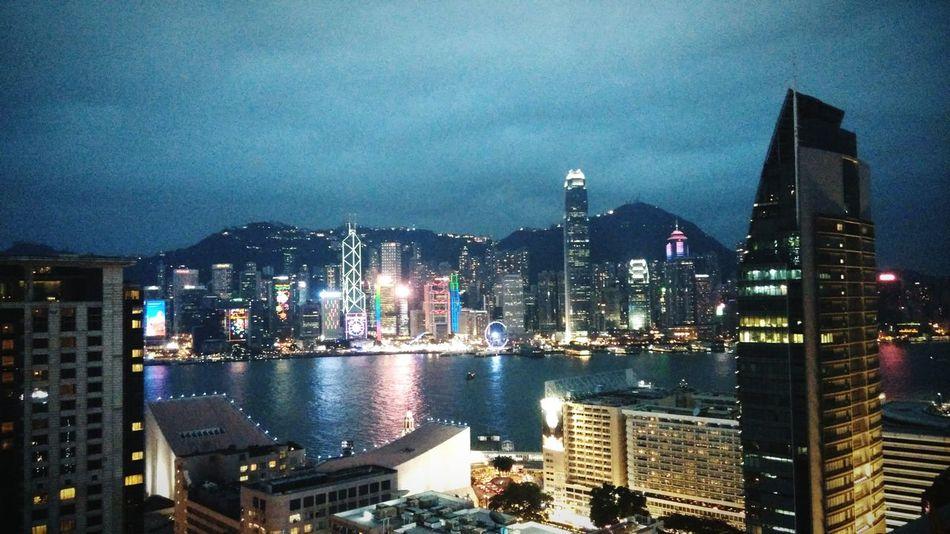 HongKong Nightview Harbour View 2015 Christmas Topview Enjoying Life Street Photography Hong Kong