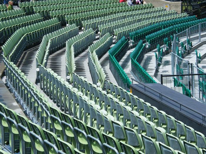Full frame shot of empty seats